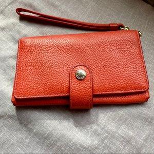 Coach 🐎 leather wristlet